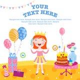Dziewczyny wszystkiego najlepszego z okazji urodzin prezenty ilustracji