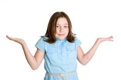 dziewczyny wzruszać ramionami Zdjęcia Royalty Free