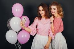 Dziewczyny Z balonami obraz royalty free