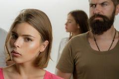Dziewczyny z mężczyzną Miłość powiązania ludzie Nadzieje i życzenia klub dla ludzi z problemami rodzinna psycholog terapia fotografia stock