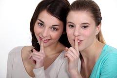 Dziewczyny z sekretem fotografia royalty free