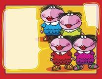 Dziewczyny z tekstów bąblami Obrazy Stock