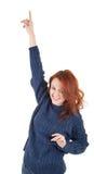 dziewczyny z włosami utrzymania czerwień target1749_0_ ciepły Obrazy Stock