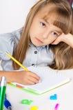 dziewczyny, zadanie domowe Zdjęcia Royalty Free
