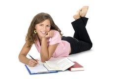 dziewczyny, zadanie domowe Zdjęcia Stock