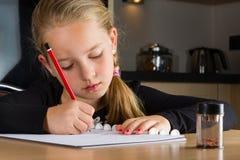 dziewczyny, zadanie domowe fotografia stock