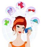 dziewczyny zakupy target2380_0_ Zdjęcia Stock