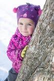 Dziewczyna w różowej kurtce Zdjęcia Royalty Free