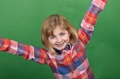 dziewczyny zieleni portreta ekranu potomstwa Obrazy Royalty Free