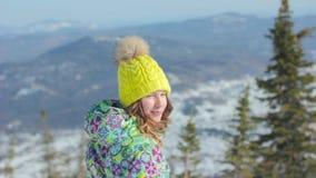 Dziewczyny zimy spojrzenia od wierzchołka zbiory