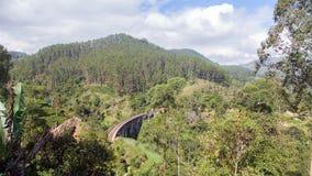 Dziewięć Łękowaty most w Ella, Sri Lanka timelapse krajobraz zbiory