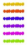 Dziewięć balonów w różnorodnych kolorach Fotografia Royalty Free