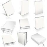 Dziewięć biel pusty książkowy szablon Fotografia Royalty Free
