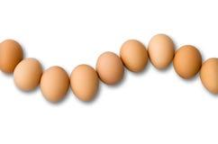 Dziewięć jajko Układający w krzywie obrazy stock