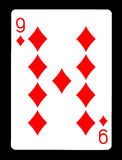 Dziewięć Karowy karta do gry, Fotografia Stock