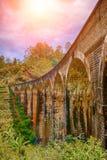 Dziewięć linii kolejowej łękowaty most w Demodara, Sri Lanka Fotografia Royalty Free