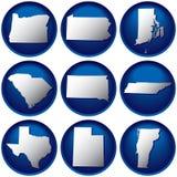dziewięć państw jednoczących przyciski ilustracji