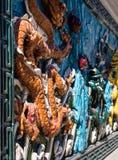 Dziewięć smoków ściana Obraz Royalty Free