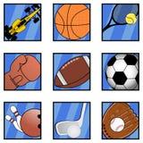 Dziewięć sport Obraz Royalty Free