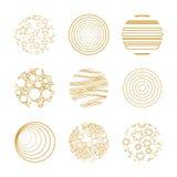Dziewięć złotych bożych narodzeń elementów royalty ilustracja
