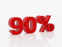 dziewięćdziesiąt procent kolor czerwony Obrazy Stock