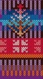 Dziewiarski wzór w stylowej Uczciwej wyspie Jaskrawy, kolor bezszwowy wzoru Uszycie, handmade, manufaktura tkaniny, przędza, ilustracji