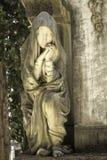 Dziewica kamienny cmentarz zdjęcie stock