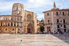 Dziewica kwadrat i Walencja katedra w Walencja, Hiszpania fotografia royalty free
