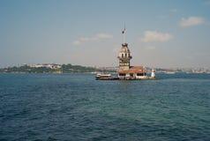 Dziewicza ` s wyspy latarnia morska w Istanbuł zdjęcia royalty free