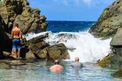 Dziewiczej wyspy bąbla basen Fotografia Royalty Free