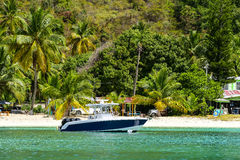 Dziewiczej wyspy plaża Zdjęcie Royalty Free