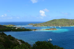 Dziewiczej wyspy schronienie Zdjęcia Royalty Free