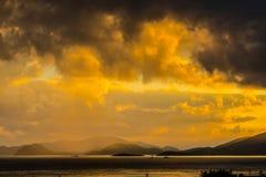 Dziewiczej wyspy wschód słońca Fotografia Royalty Free