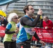 Dziewiczy pieniądze Londyn maraton 24th 2016 Kwiecień Obrazy Stock