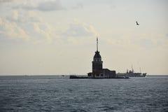 Dziewiczy ` s wierza na morzu w Istanbuł, Turcja Obrazy Stock
