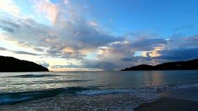 Dziewiczych wysp zmierzch Tortola zbiory wideo