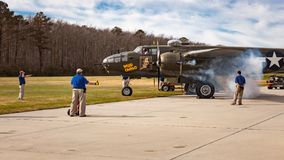 Dzika ładunku B-25 bombowiec Obrazy Royalty Free