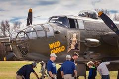 Dzika ładunku B-25 bombowiec Obraz Royalty Free