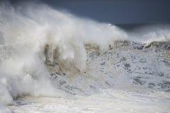 Dzika burzowa ocean kipiel Obrazy Stock