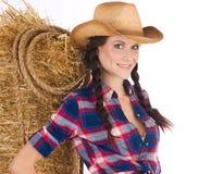 dzika dziewczyna na zachód Zdjęcia Stock
