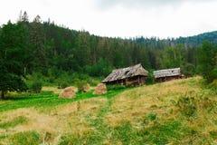 Dzika lasowa kabina, samotny podr?? krajobraz fotografia stock