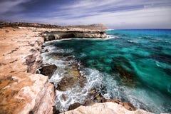 Dzika natura przylądka Greco półwysep, Cypr zdjęcia stock