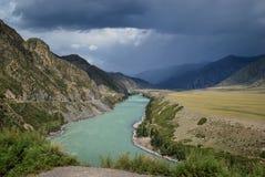 Dzika natura Siberiamountains obrazy royalty free