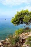 Dzika piękna natura i morze w Chorwacja obraz stock