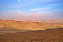 Dzika piaskowata i unexplored pustynia zdjęcie stock