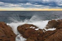 Dzika plaża Fotografia Royalty Free