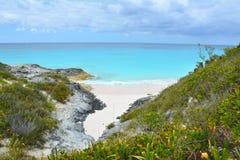 Dzika plaża na Bahamas zdjęcie stock