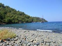 Dzika plaża w Turcja Obrazy Royalty Free