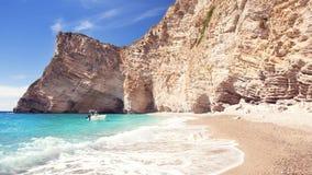 Dzika plaża Zdjęcia Stock