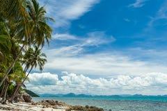 Dzika plaża na tropikalnej wyspie obrazy royalty free